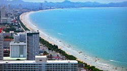 Long stretch of beach is a prominent feature of Pattaya